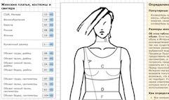 Вычислить размер одежды и обуви онлайн