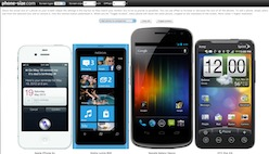 Сравнить смартфоны по размеру онлайн