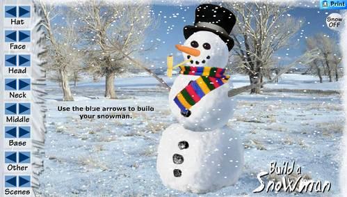 Игра Сделай снеговика