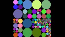 Рисовать онлайн. Цветные кружочки