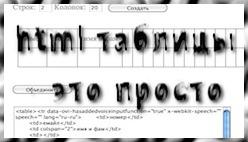 Создать html таблицу с объединенными ячейками онлайн