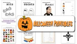 Открытки Хэллоуин, бланки, плакаты на тему Хеллоуина, раскраски, шаблоны, головоломки