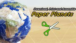 Распечатать планеты и собрать их из бумаги