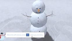 Скатать Снеговика из снега