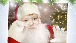 Лицо Деда Мороза шаблон онлайн