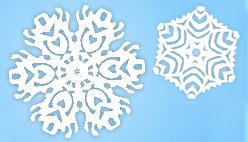 Игра вырезание снежинок