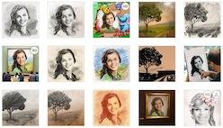 Эффекты рисунка для фото онлайн