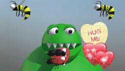 Анимированные стикеры-сердечки на фото онлайн