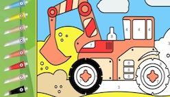 Онлайн раскраски по номерам. Транспорт