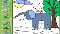 Онлайн раскраски по номерам с животными и птицами