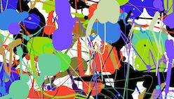 Онлайн рисование кляксами в стиле jackson pollock