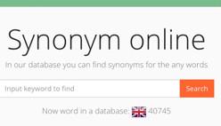 Синонимы английских слов онлайн